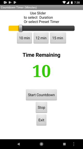 a countdown timer app to avoid empty quadcopter batteries app
