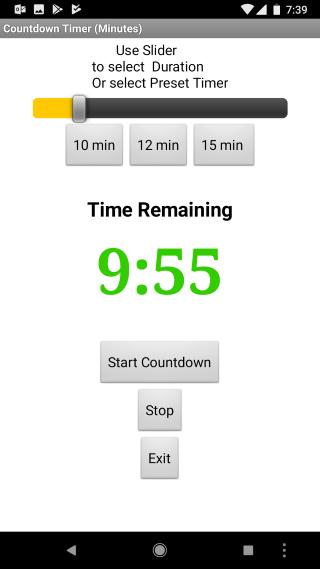 timer 3 minutes start